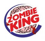 ZOMBIE KING Funny VINYL Car Van Bumper Window Sticker Decal JDM BLOOD SPLATTER 105x95mm